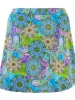 Swim Skirt with Shorts - Purple Paisley