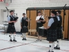 Bagpipes before the run