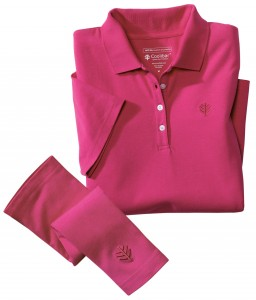 Women's Convertible Polo in Passion Pink