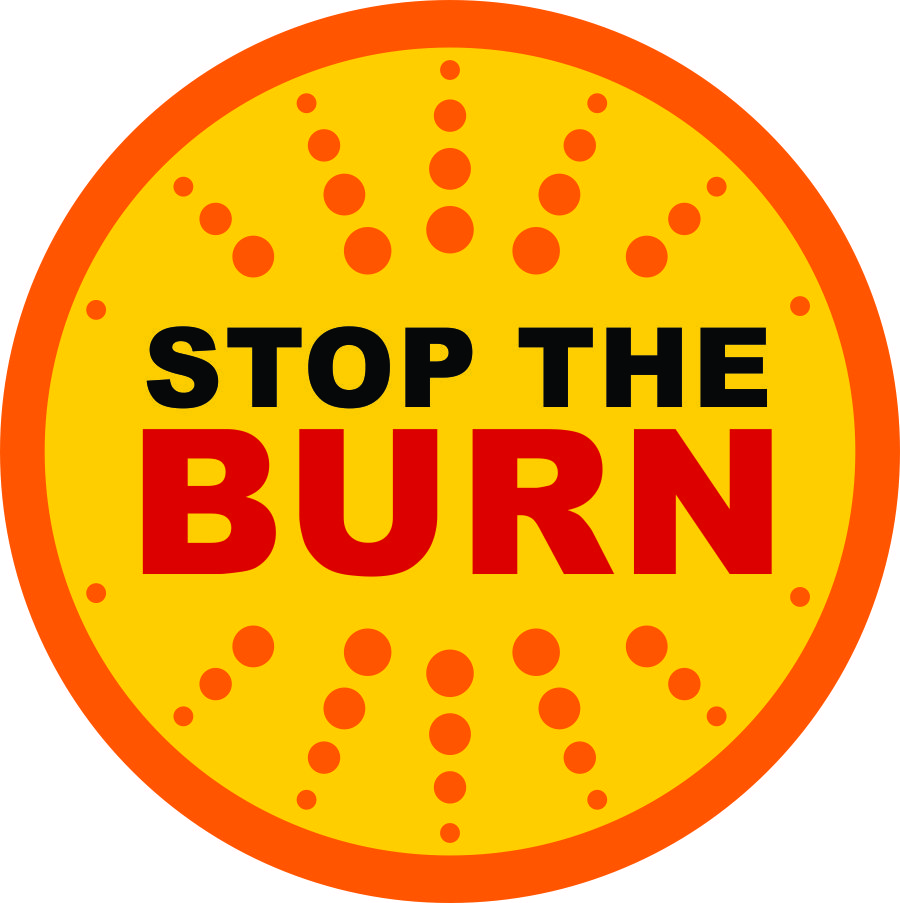 STOP THE BURN logo