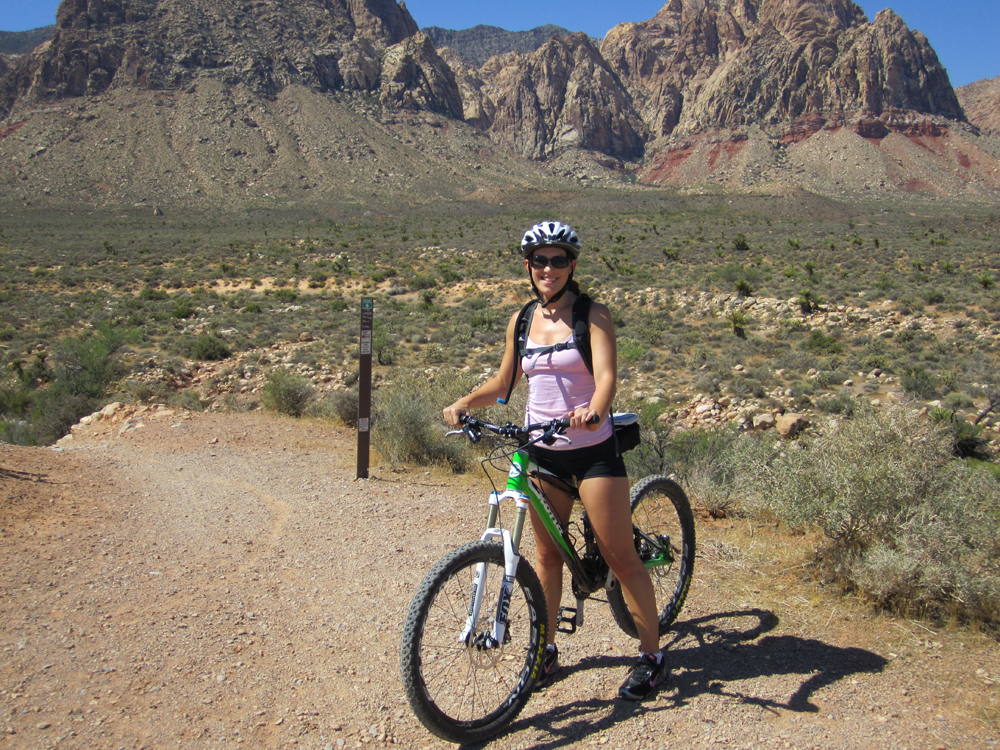 Krista Mountain Biking in Nevada