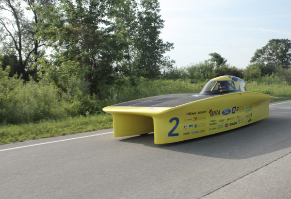 University of Michigan Solar Car Mock Race