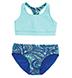 Coolibar - Aqua Paisley Reversible Swim Tops and Bottoms