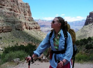 Jessi Staying Covered Hiking Grand Canyon