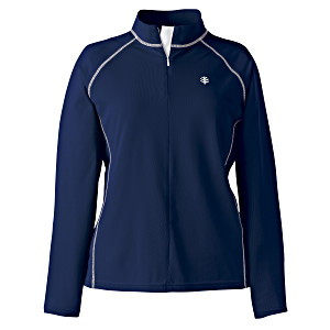women's swim shirt in navy