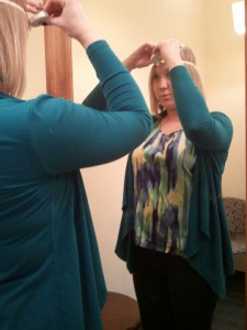 Measuring head for hat size