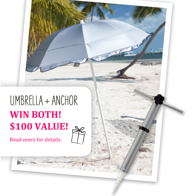 Coolibar Holiday Contest Win A Beach Umbrella And Sand Anchor